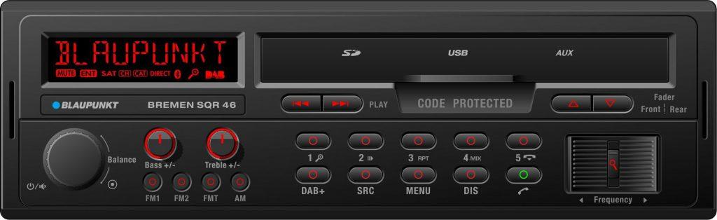 Blaupunkt Bremen SQR46DAB - Autoradio mit USB Bluetooth DAB+ Radio SD Karten Slot im Retrostyle