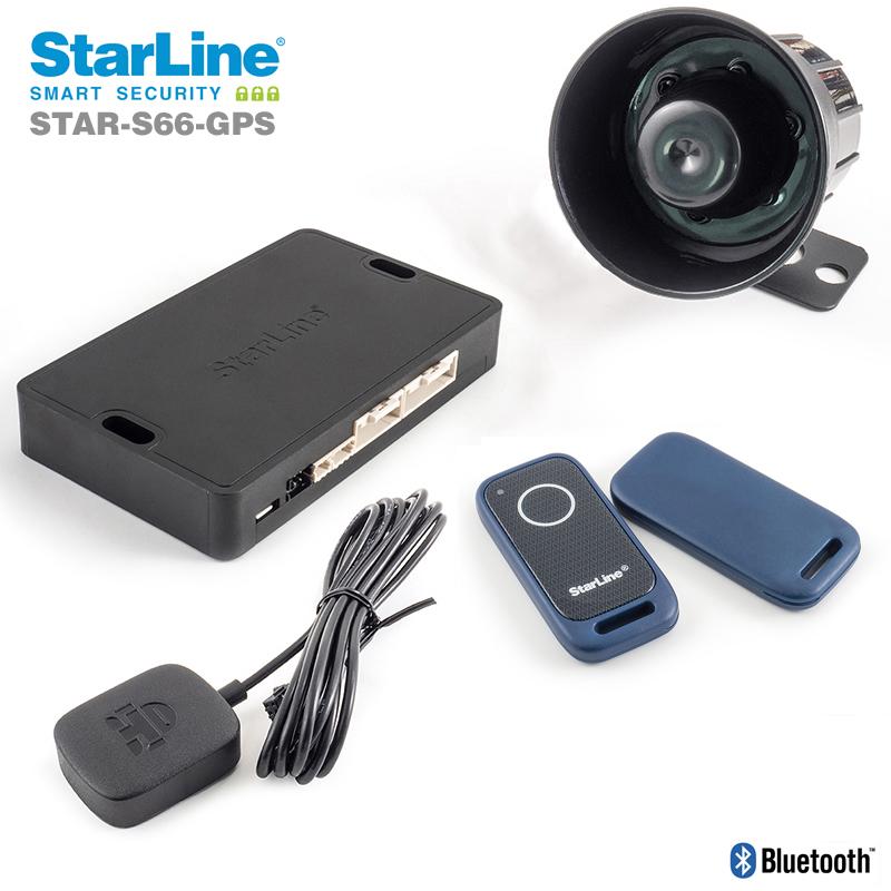 Starline S66-GPS Alarmanlage mit Ortungssystem und Smartphone App und zusätzlicher Wegfahrsperre