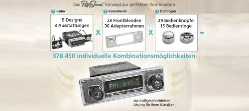 Retrosoud Radios für Oldtimer / Youngtimer 1